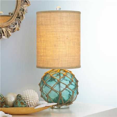 Attractive Modern Buoy Glass Table Lamp A Modern Twist On A Vintage Find Explains The  Combination Of Styles Wrapped Up In This Table Lamp. The Vintage Glass Buoy  With ...