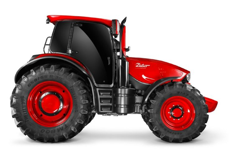 Concept Zetor by Pininfarina: side view--Concept cars and motorcycles are a dime a dozen. Concept tractors? They're about as rare as hen's teeth. That hasn't stopped Czech tractor company Zetor hitting the Agritechnica fair in Hannover with a pimpin' concept that looks more Concorso D'Eleganza than field d'asparaguza, thanks to the help of storied Italian design house Pininfarina.
