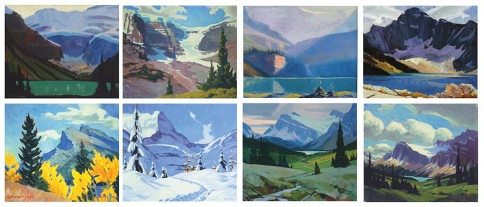 Greeting Cards with images of paintings by Peter and Catharine Whyte, Canadian artists.