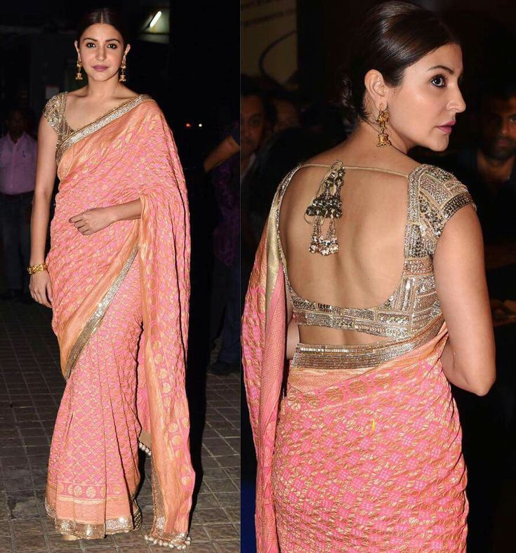 Anushka in Bollywood style sari
