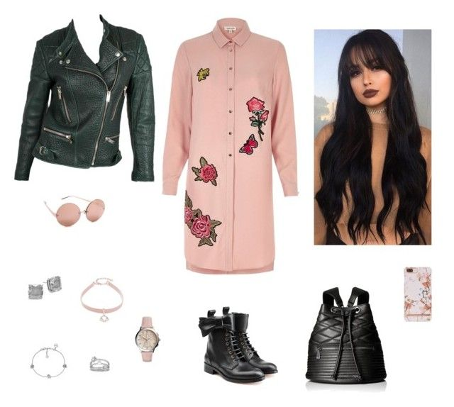 """Без названия #2528"" by gvarjusha ❤ liked on Polyvore featuring River Island, Armani Jeans, RED Valentino, Emporio Armani, Linda Farrow, Kate Spade, Lord & Taylor, Design Lab and FOSSIL"