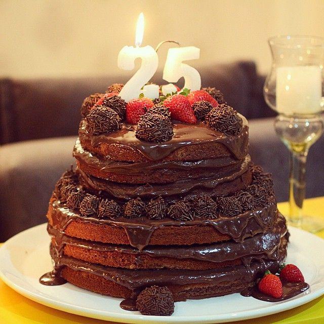 brigadeiro naked cake