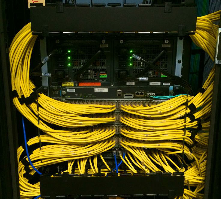 Yellow Ethernet Connected To A Cisco Catalyst 4500