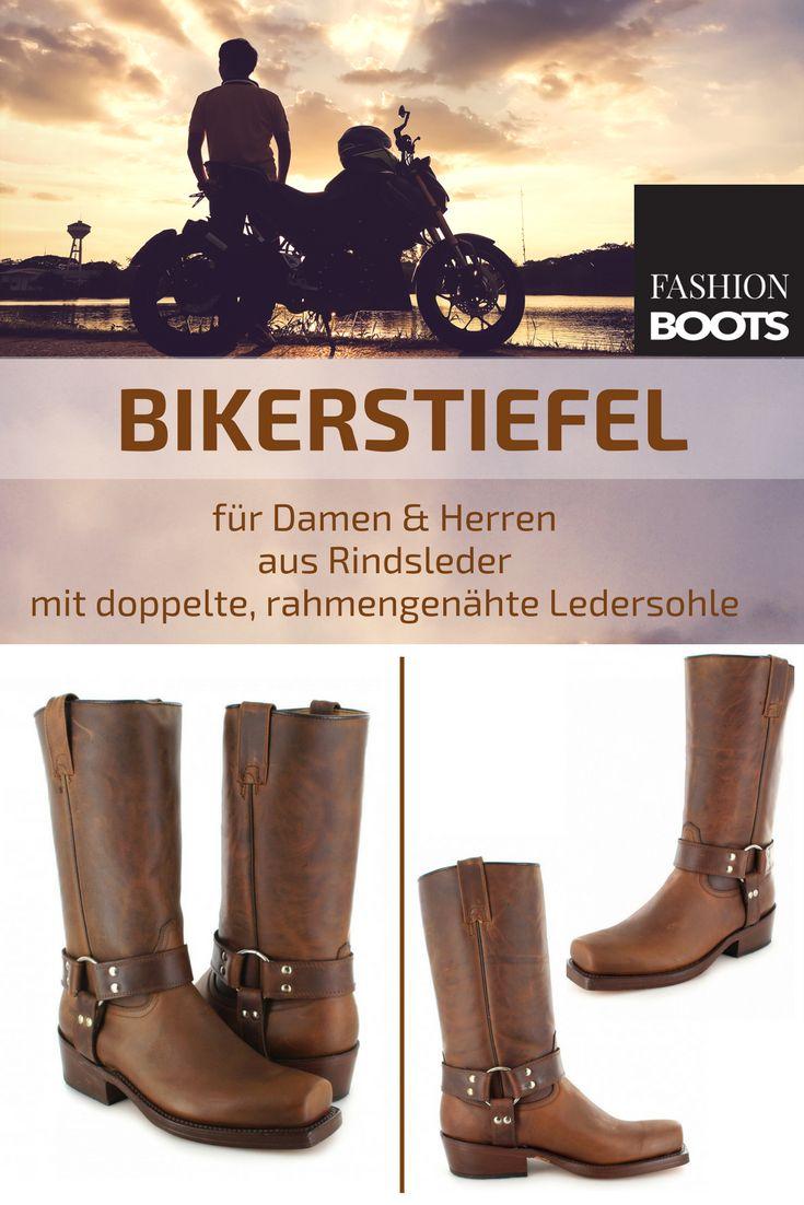 Buffalo Boots 1801 Bikerstiefel - braun   Klassischer Damen und Herren Biker Boots aus Rindsleder