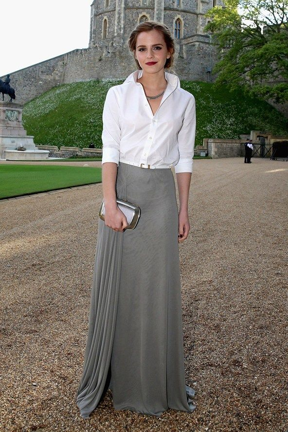emma watson white skirt maxi skirt on amyforgranted