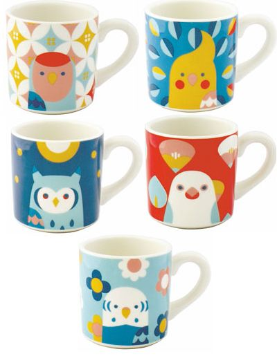 print & pattern un bird designs by Kotoritachi spotted on stationery, fabrics, and tableware.