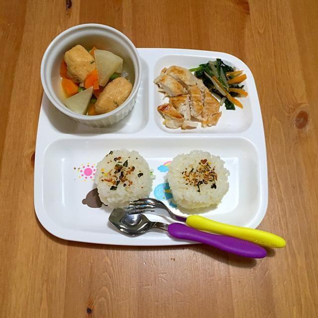 あっさり味おでんとチキン。 - 3件のもぐもぐ - 1歳BOY★夕食 by yukimiii