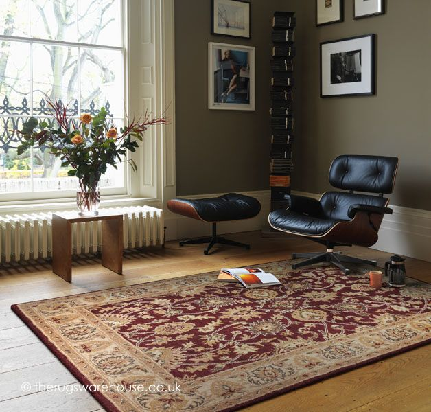 Agra Twist Red Rug, a traditional hand-tufted 100% wool rug http://www.therugswarehouse.co.uk/clearance/agra-twist-red-rug.html #rugs #interiors #traditionalrugs