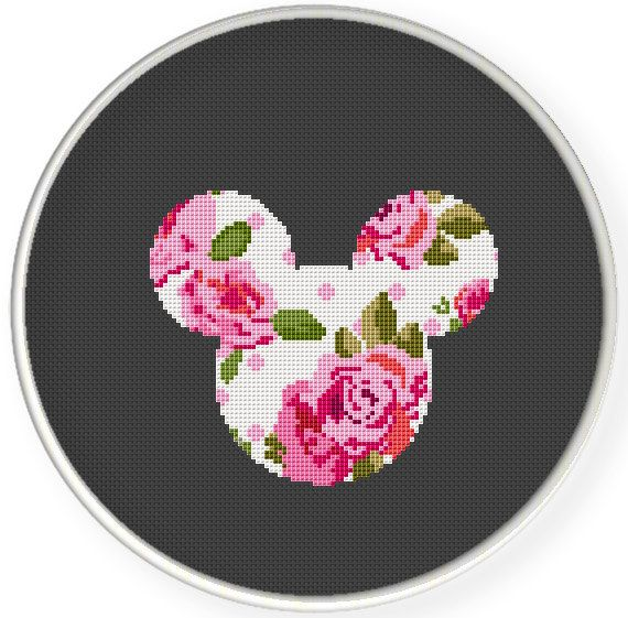 Instant Download,Free shipping,Counted Cross stitch pattern,Cross-Stitch PDF, pillow pattern ,flower mice ,china ,zxxc0635