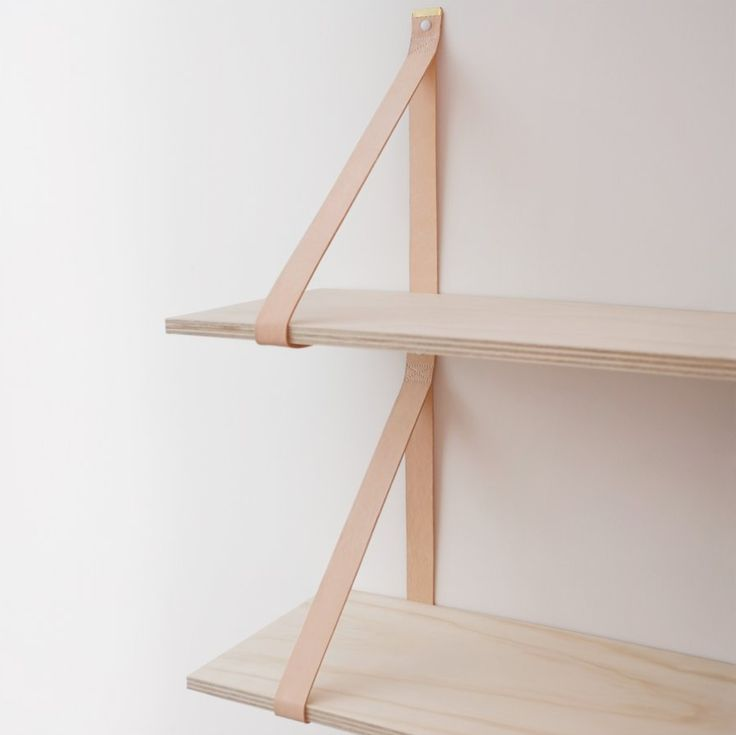 leather + wood shelves / weekday carnival