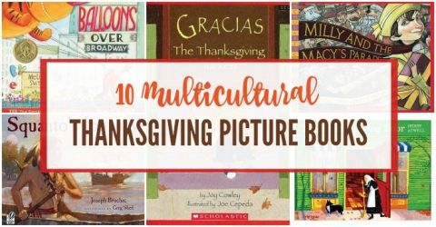 Diverse Thanksgiving picture books for kids and families.