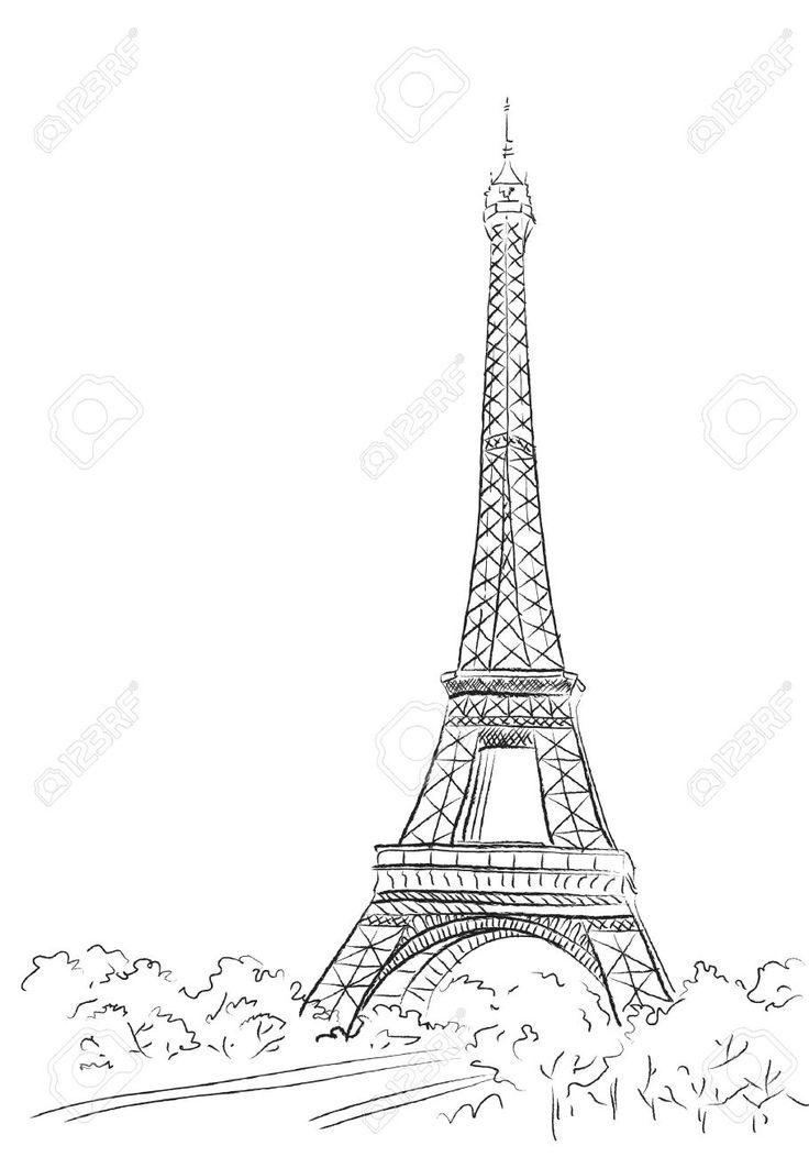 Paris, De Fondo Con La Torre Eiffel Ilustraciones Vectoriales, Clip Art Vectorizado Libre De Derechos. Pic 21736916.