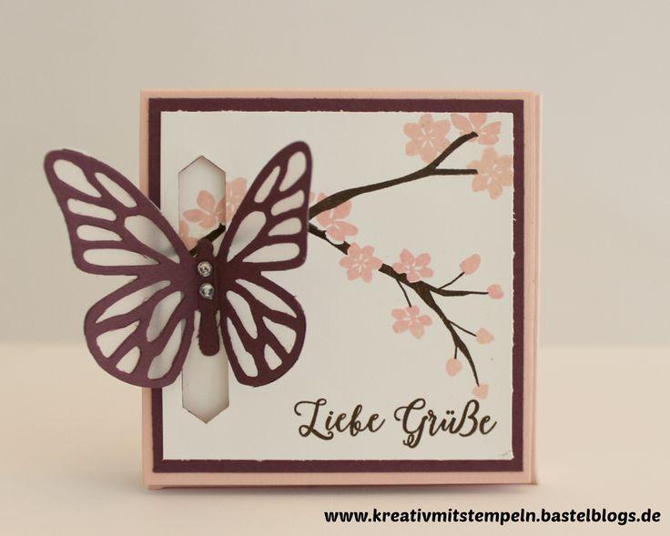 Merci-Verpackung mit Schmetterlingsverschluß, Stampin up, Jahr voller Farben