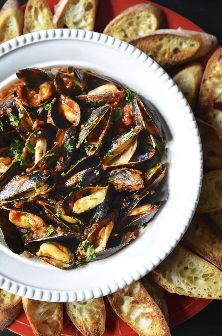 It's no secret that I adore mussels. This is one of the best. Simple and elegant, mussels fra diavolo is a classic dish that is best served with lots of crusty bread for dipping.