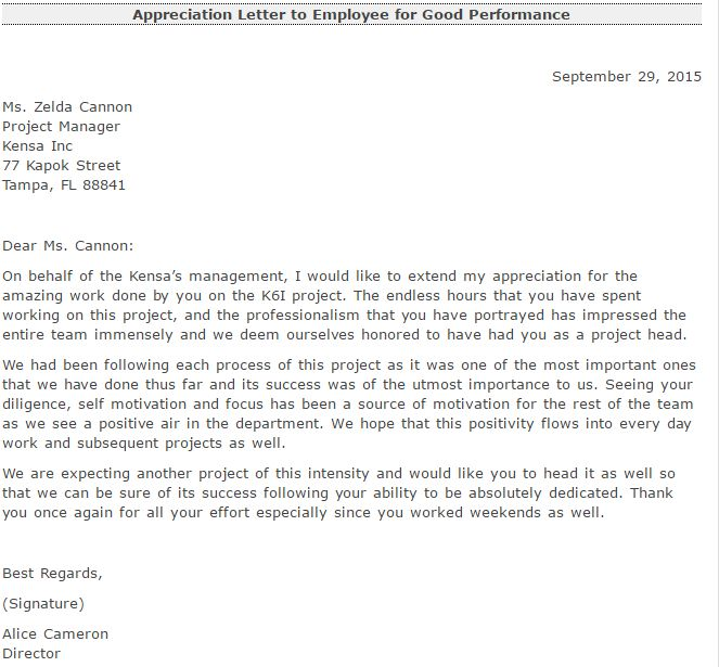 Appreciation Employee Letter Testimonials Team Letters The Best