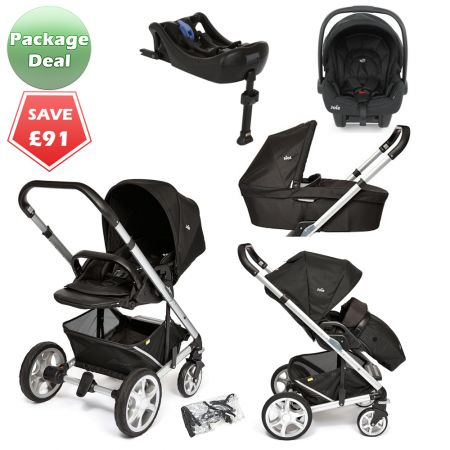 Joie Chrome Plus Package Deal Black Carbon The Joie Chrome Plus pushchair is the newest model of the popular baby pram, suitable from birth and features a reversible seat unit with recline. It's also compatible wih the Joie Gemm infant car seat to form a travel system, and the Joie carrycot to create a cosy pram for newborns. PACKAGE DEAL! http://www.kidsstore.co.uk/webshop/prams-buggies-car-seats/travel-systems/joie-travel-systems/joie-chrome-plus-package-deal-black-carbon/