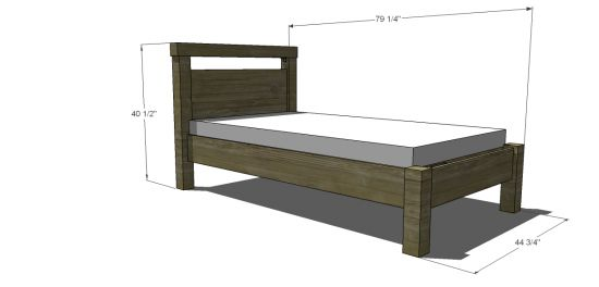 Simple Twin Bed DIY (i am tired of looking for a simple real wood bed so i will build one!)