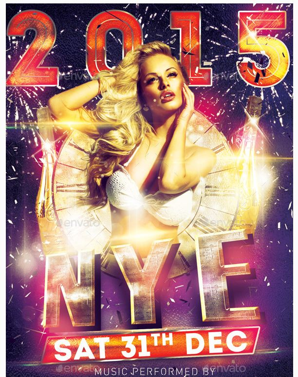 Best New Year Flyer Template Images On   Party Flyer