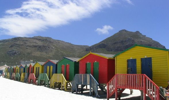 Muizenburg Beach in Cape Town, South Africa: http://www.ytravelblog.com/photo-of-the-week-muizenburg-beach-cape-town-south-africa/