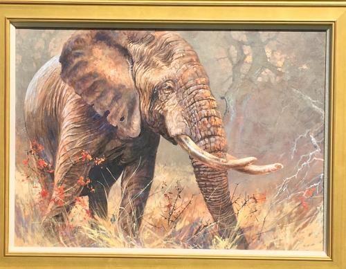 Artist: Kobus Moller Title: Old Timer Medium: oil on canvas Size: 28 x 39 (71.12cm x 99.06cm)canvas size Date: 1962 VV