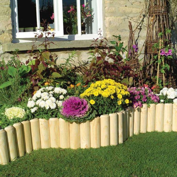 Bordure bois a planter, Clôtures pour potager and Bordure de bois de ~ Bordure De Jardin Bois