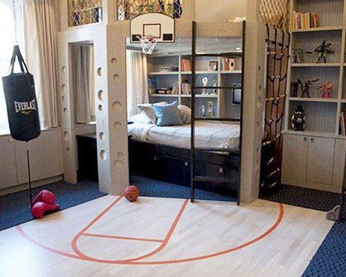 Teenage boys gym bedroom kids bedrooms pinterest