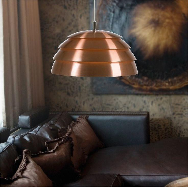 Cool copper pinecone pendant, gloss lacquered finish really makes it POP! Also looks great in matt white