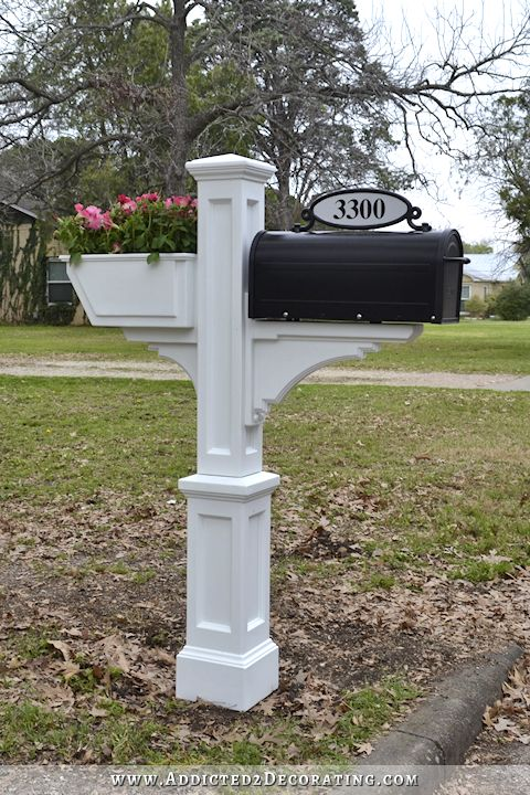 how to build a mailbox post for 3 boxes