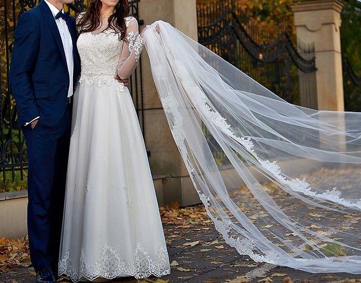 Suknie - Unikatowa suknia z włoskich materiałów - 1 900,00zł