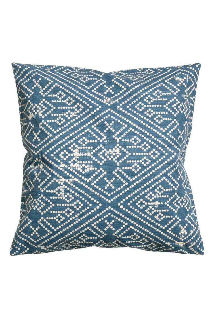Patterned cushion cover - Blue - | H&M GB 1