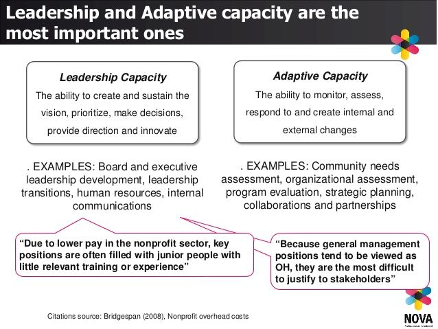Management Capacity The Ability To Make Effective And Efficient