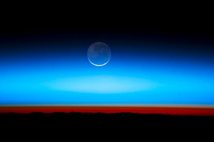 Earthshine from the International Space Station