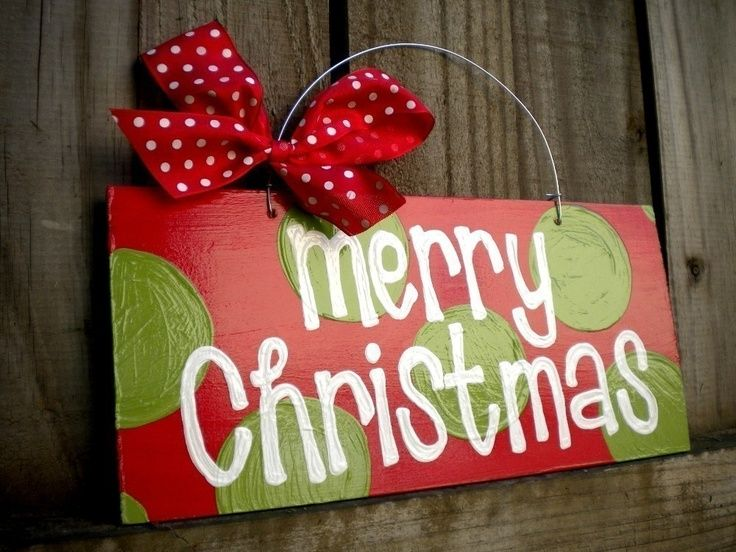 christmas signs hand painted   Hand-painted - cute design