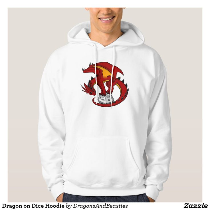 Dragon on Dice Hoodie. Regalos Padres, fathers gifts, #DiaDelPadre #FathersDay