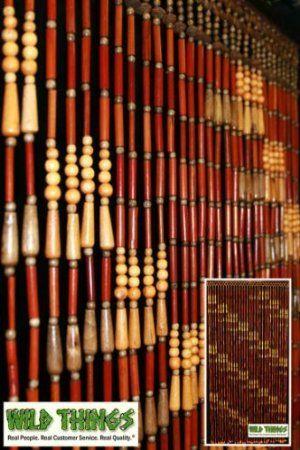 Amazon Com Wood Quot Peaches N Pits Quot Door Beads Beaded