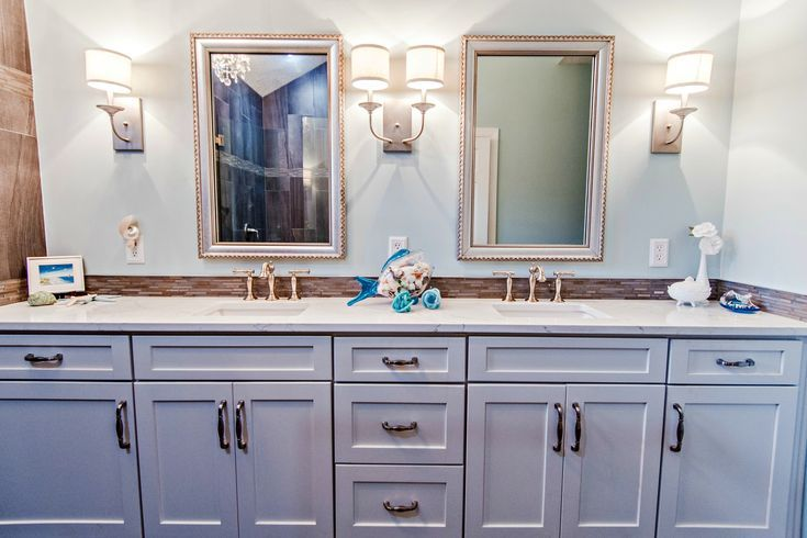 Long And Lean Vanity For This Jacksonville Fl Master Bath Remodel
