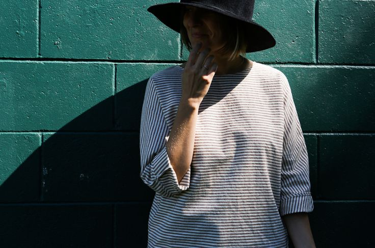 Beauty & Use // Faded Brown Striped Smock