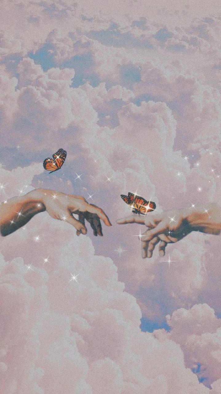 Butterfly Wallpaper In 2020 Butterfly Wallpaper Iphone Aesthetic Iphone Wallpaper Angel Wallpaper