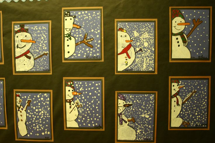snowman art lessons - Google Search