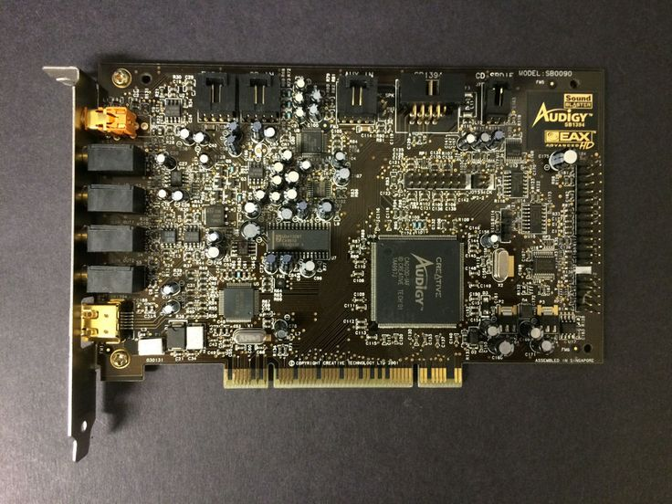 Creative Sound Blaster Audigy PCI Sound Card with SB1394 Firewire tested working #Creative