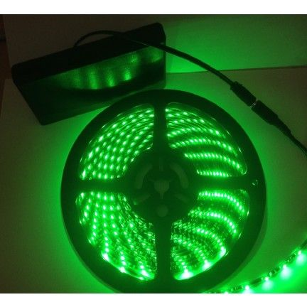 Battery Powered 5M Telescopic Flag Pole LED Strip Tape Light Green Picture 1