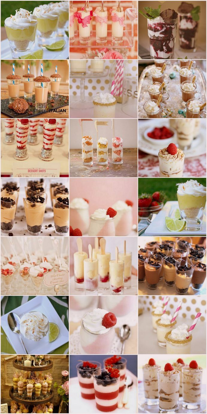 15 Dessert Shooters! LOVE these for parties!!!