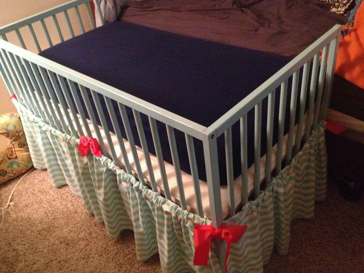 IKEA crib cosleeper and no sew crib skirt