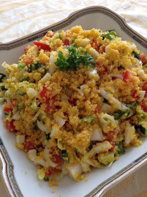 La mia cucina persiana: Cous Cous freddo con Verdure Crude