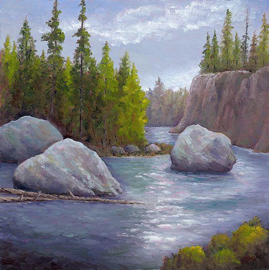 Cool Waters - Dennis Tasa - Oil on linen - 24 x 24 - www.dennistasa.com