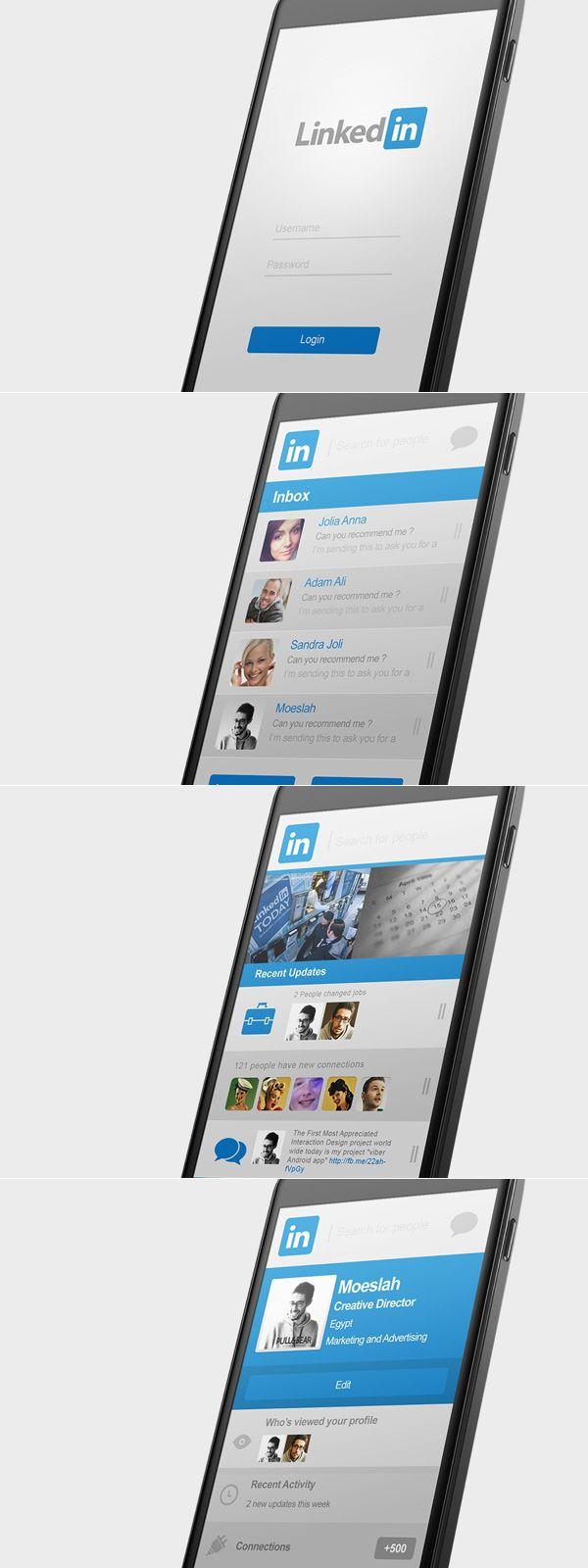 링크드 인 안드로이드 앱 재 설계