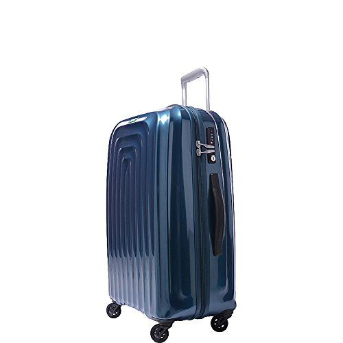 Lojel Wave Polycarbonate Medium Upright Spinner Luggage Blue One Size ** See this great product.