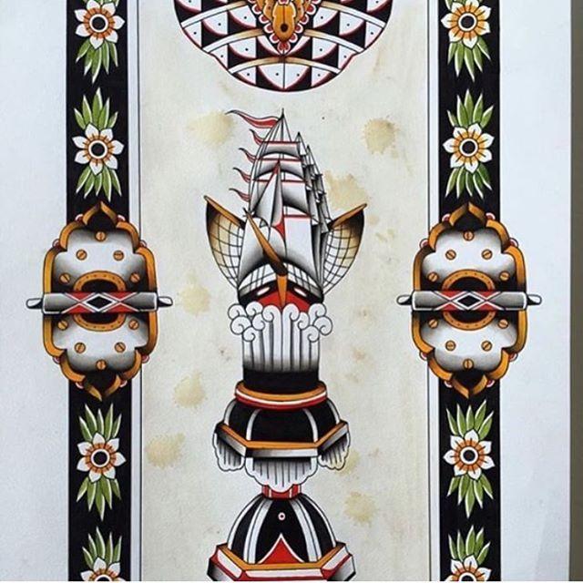 Collaboration by @captain_darkside_tattoo & @danetattoo #trflash#traditional_flash#tattoo#tattooflash#traditional#traditionaltattoo#traditionalflash#tattooart#flash#art#illustration#drawing