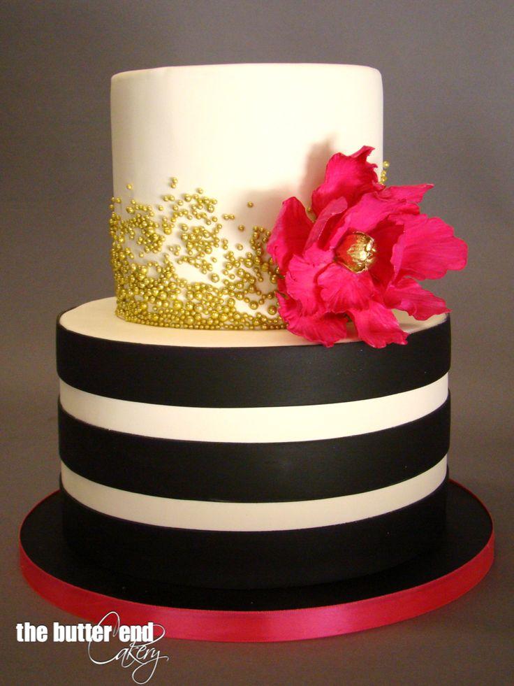 Black And White Striped Cake Flower