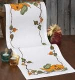 Autumn Vegetable Halloween Table Runner Cross Stitch Kit - Idéna Collection by Anchor